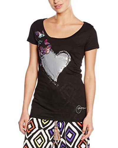 Desigual T-Shirt Ts_Gris, 2000 Negro, L