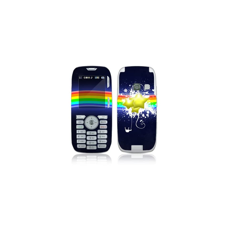 Rainbow Stars Decorative Skin Cover Decal Sticker for LG Rumor UX260 Cell Phone
