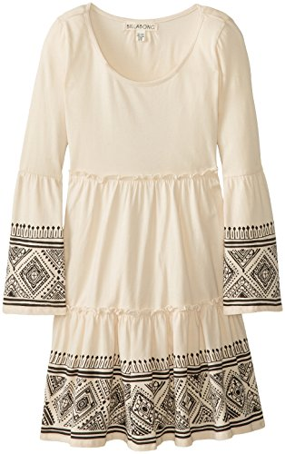 Billabong Big Girls' Hey Pretty Lady Long Sleeve Dress, White Cap, Large front-1057374