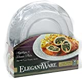Hefty Elegantware Disposable Dinner and Appetizer Plates, 50 Plates