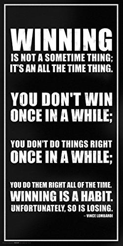 Vince Lombardi Winning Inspirational
