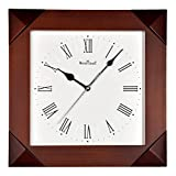 WOOD CRAFT Ws-1141a Sweep Wall Clock (wood Case - White Dial) Size- 32.8 X 32.8 C.m.