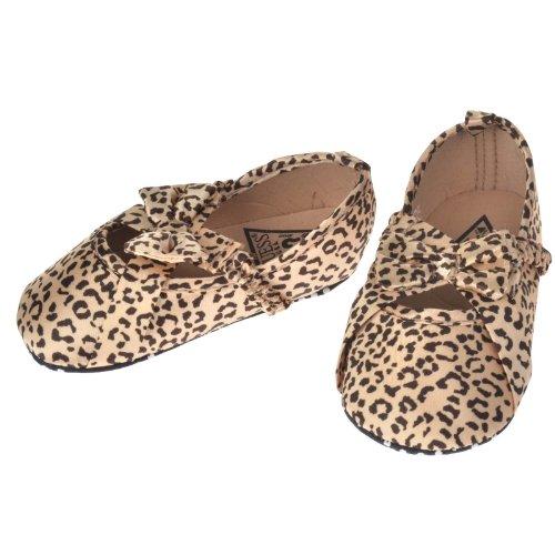 Generic Leopard Babys Girls Soft Sole Leopard Print Crib Shoes Walking Shoes (12 (suggest 6-9 month), Leopard Bowknot)