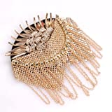 1 Pair Metal Alloy Spike Tassel Brooch Epaulette Shoulder Board Fashion Punk Style