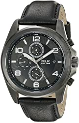 Relic Men's ZR15795 Daley Analog Display Analog Quartz Silver Watch