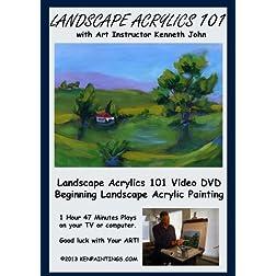 Landscape Acrylics Painting 101