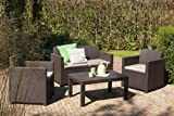 Allibert-Lounge-Set-Merano-Braun-4-teilig