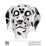 Máscara de plástico/niños dálmata de colour blanco - colour negro
