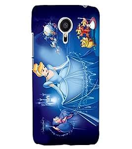 ColourCraft Cartoon Princess Design Back Case Cover for MEIZU MX5