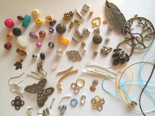 Lyndie's Craft Mixed beads & findings. Pack of at least 50! See product description.