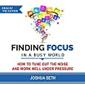 Finding Focus in a Busy World: How to Tune out the Noise and Work Well Under Pressure (       UNABRIDGED) by Joshua Seth Narrated by Joshua Seth