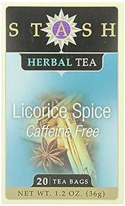 Stash Tea Licorice Spice Herbal Tea, 20 Count Tea Bags in Foil (Pack of 6)