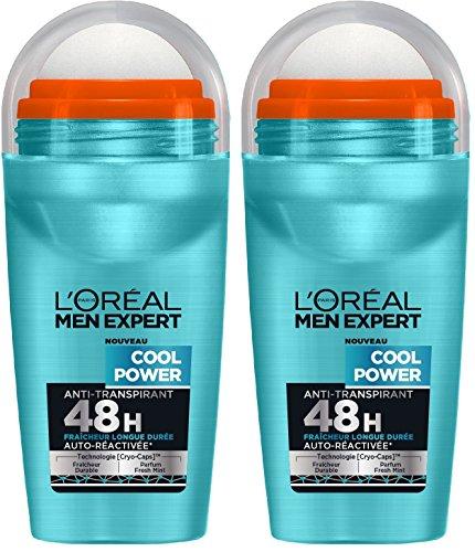 L'Oréal Men Expert Potenza Uomo freddo Deodorante Bille Freschezza Lunga Durata 50 ml - Set di 2