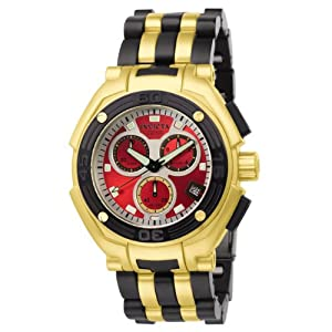 Invicta Men's 6273 Speedway Collection Elegant Chronograph 18k Gold-Plated and Polyurethane Watch