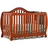 Stork Craft Monza I Fixed Side Convertible Crib, Cognac (Discontinued by Manufacturer)
