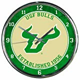 NCAA South Florida Bulls Chrome Clock