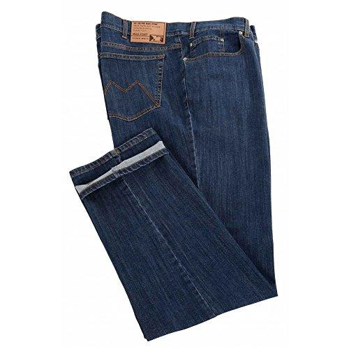 Jeans Maxfort Basic taglie forti uomo - Blu scuro, 60 GIROVITA 120 CM