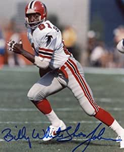 Billy white shoes johnson atlanta falcons signed 8x10 at for Joy gift and jewelry sydney ns