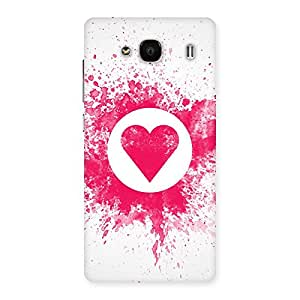 Cute Splash Heart Back Case Cover for Redmi 2 Prime