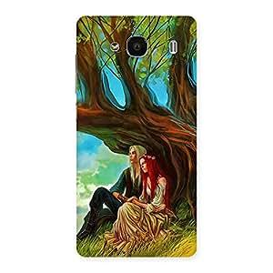 Stylish Couple Under Tree Multicolor Back Case Cover for Redmi 2 Prime