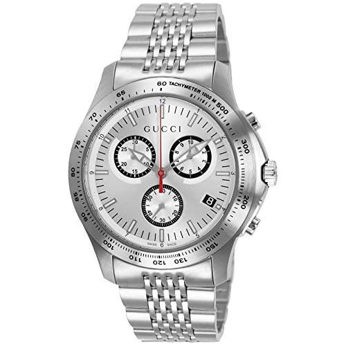 [グッチ]GUCCI 腕時計 G-TIMELESS シルバー文字盤 デイト YA126255 メンズ 【並行輸入品】