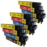 12 CiberDirect Compatible Ink Cartridge Replacements for Epson 18XL (T1811-4 multipack).