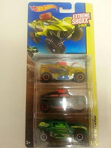 Hot Wheels Extreme Shoxx 3-pack - Da Kar, Rip Shredder & Rip Rod