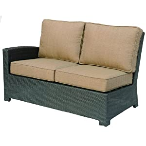 Darlee Vienna Resin Wicker Left Patio Sectional Loveseat - Espresso