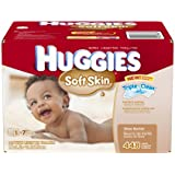 Huggies Soft Skin Baby Wipes Pop-Up Refill, 448 Count (Packaging may vary)