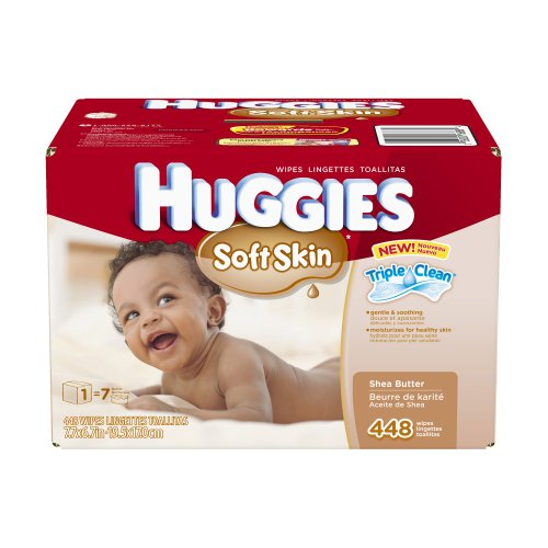 Huggies Soft Skin Baby Wipes Pop-Up Refill, 448 Count (Packaging may vary) - 1