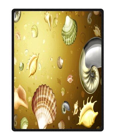 Seashell Throw Blanket front-1031035