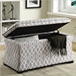 Office Star Hourglass Storage Ottoman...