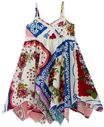 Mimi & Maggie Baby-girls Infant Vintage Handkerchief Dress, Multi, 18 Months