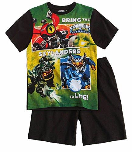 Skylanders Pyjama 2014 Kollektion 110 116 122 128 134 140 146 152 Shortie Shorty Kurz Jungen Sommer Neu Swap Force Schlafanzug L1 Grün-Schwarz (110 - 116)