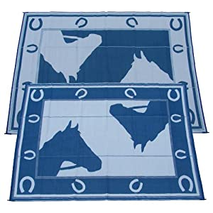 Fireside 9x12 foot Horseshoe Indoor / Outdoor Reversible RV Mat from Fireside Patio Mats at Sears.com