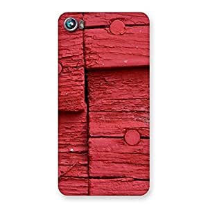 Delighted Nailed Red Wood Designer Back Case Cover for Micromax Canvas Fire 4 A107