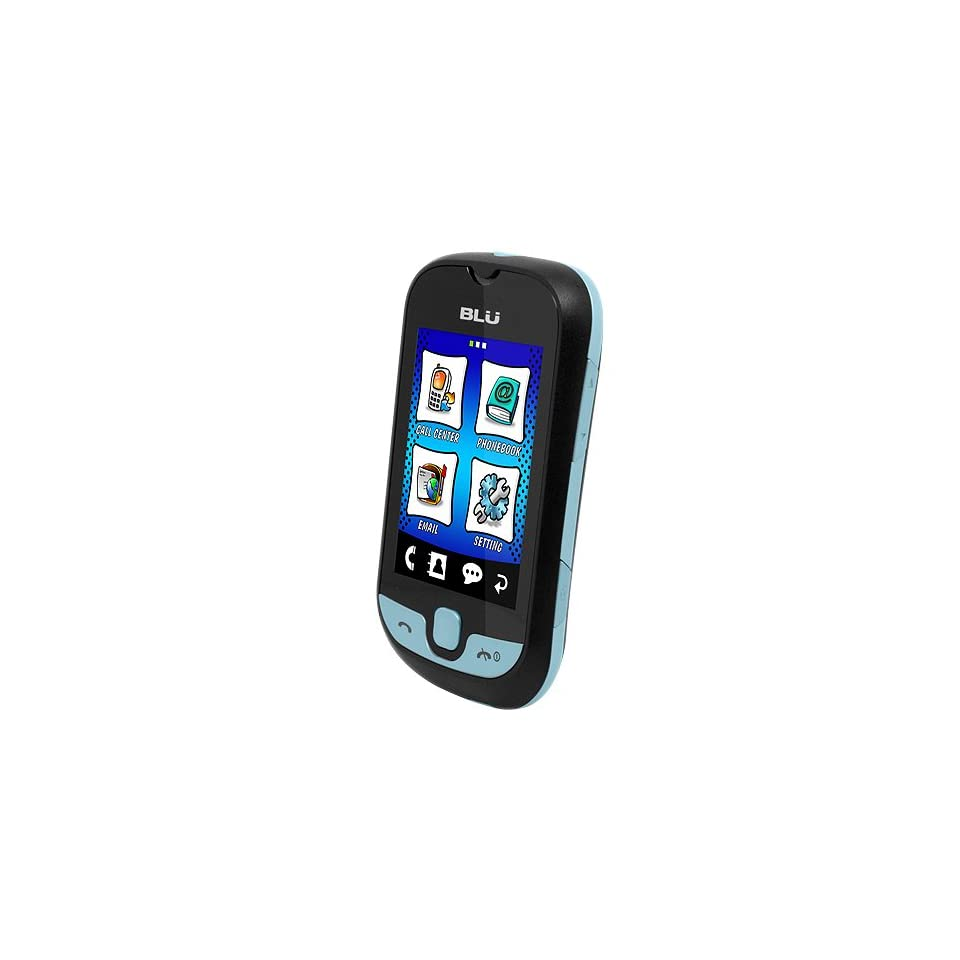 BLU S210 Deejay Touch   Unlocked Phone   US Warranty   Black/Blue