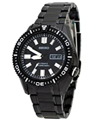 Seiko Men's SKZ329 Diver's Stainless Steel Black Dial Watch