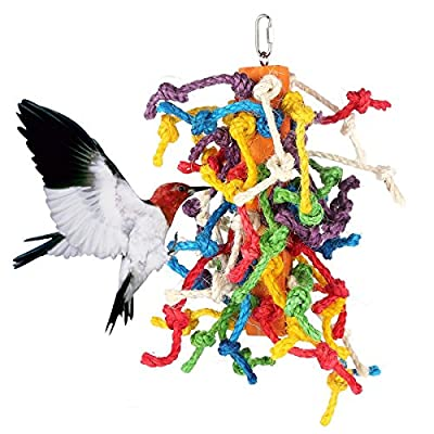 Abestbox Large Parrot /Birds Cage Toys, Preening Toy with natural food coloring