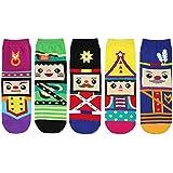 kilofly Novelty Crew Socks Value Pack [Set of 5 Pairs]