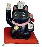 Maneki Neko - Japanese Lucky Cat - Black (#7144BK)