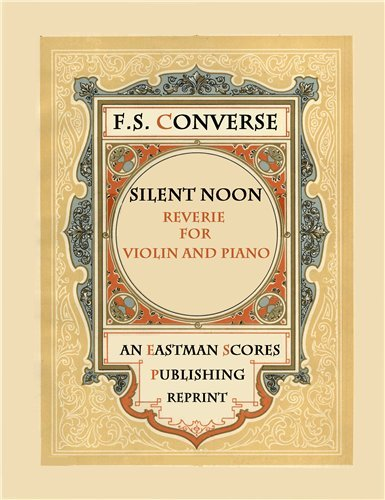 Silent Noon : Score and Part (Silent Noon Sheet Music compare prices)