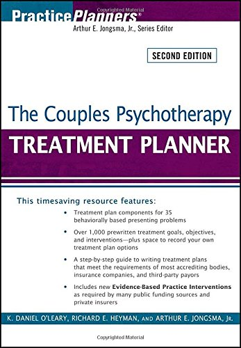 Brief couples therapy homework planner practice planners