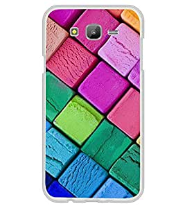 Colourful Squares 2D Hard Polycarbonate Designer Back Case Cover for Samsung Galaxy On5 (2015) :: Samsung On 5