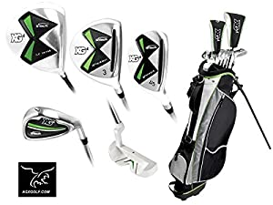 Boys XG 12 Piece Combo Golf Club Set w460cc Driver+3Wd+Hybrid+Irons+Stand Bag+Putter; Tween or Teen or Tall Length: Fast Shipping