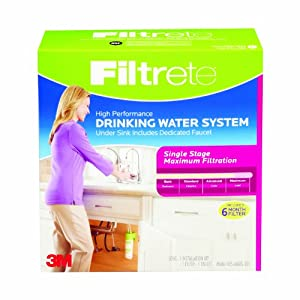 Filtrete 4US-MAXS-S01 High Performance Drinking Water System, Single Stage, 1-Kit