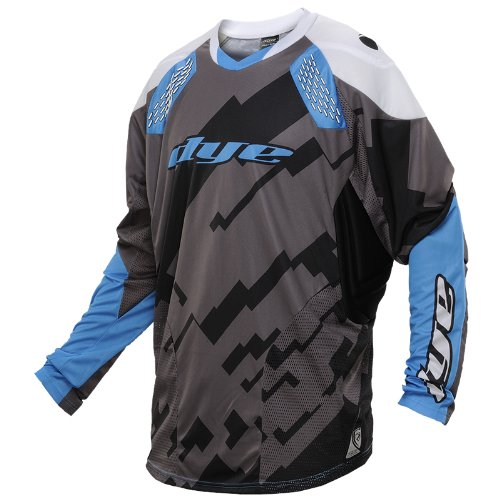 Dye C14 Paintball Jersey - Airstrike Grey/Blue - 2XLarge-3XLarge (Paintball Pants And Jersey compare prices)