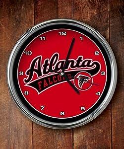 Atlanta Falcons Chrome Clock by The Memory Company