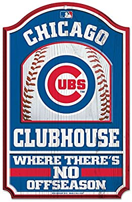 Chicago Cubs MLB Clubhouse No Offseason 11 x 17inch wood Sign