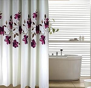 tinte lila orchidee gehobenen kreative bad duschvorhang vorhangringe anti schimmel anti. Black Bedroom Furniture Sets. Home Design Ideas
